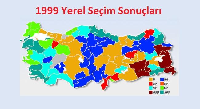 1999 Yerel Seçim Sonuçları