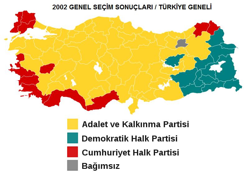 2002 Genel Seçim Sonuçları
