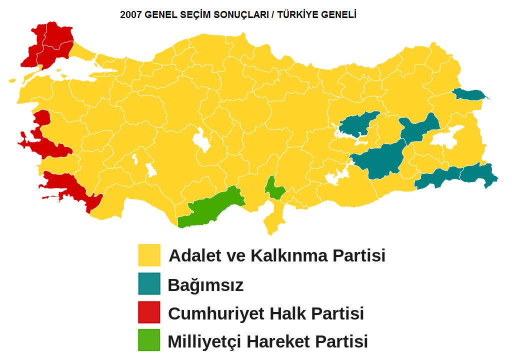 2007 Genel Seçim Sonuçları