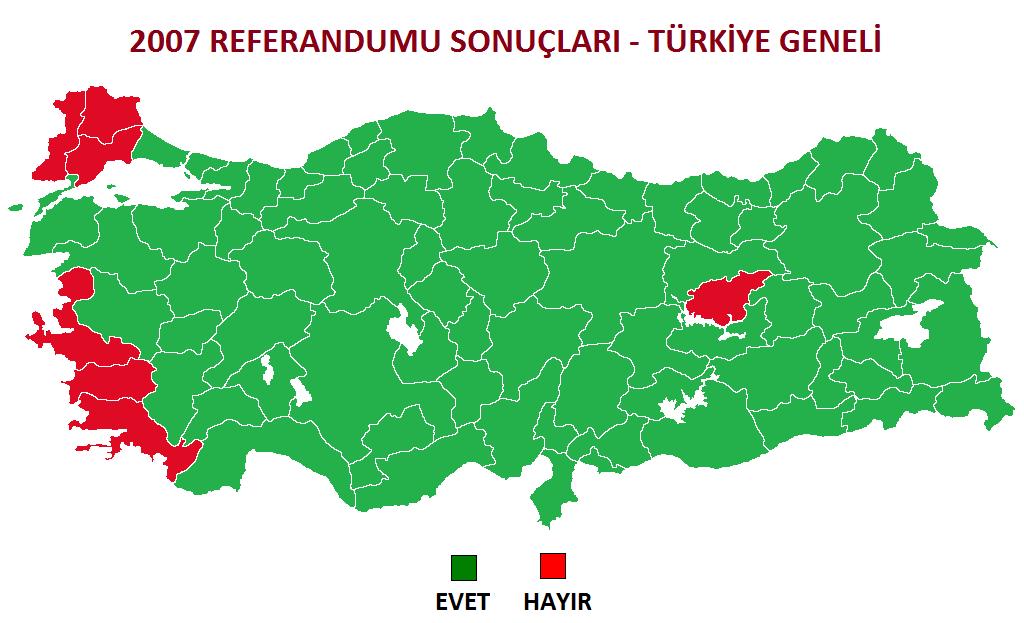 2007 Anayasa Değişikliği Referandumu Sonuçları
