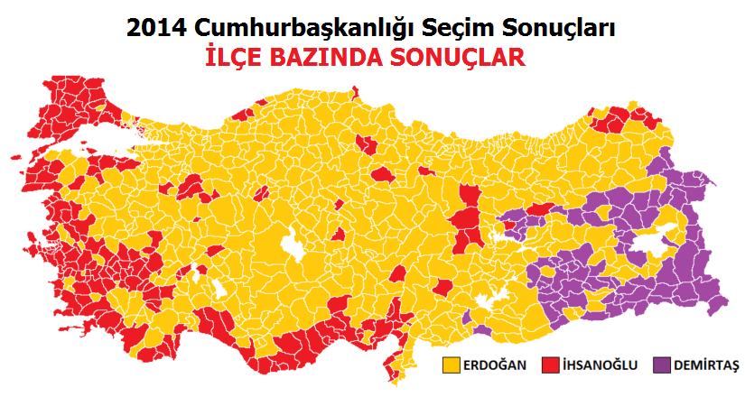 2014 Cumhurbaşkanlığı Seçim Sonuçları