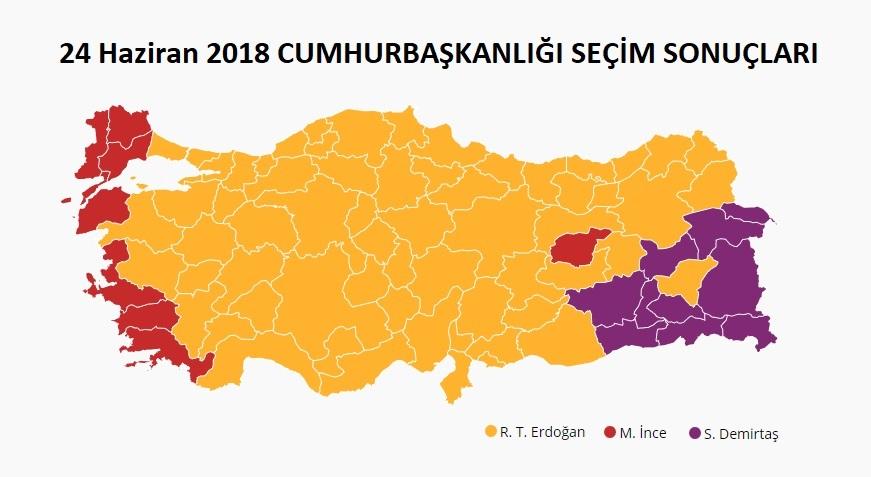 2018 Cumhurbaşkanlığı Seçim Sonuçları