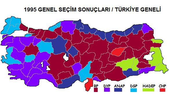 1995 Genel Seçim Sonuçları
