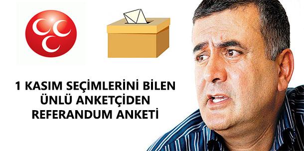 Adil Gür'ün Referandum Anketinde MHP Faktörü