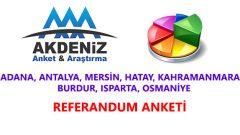 Akdeniz Bölgesi Referandum Anketinde Evet Oranı Yüzde Kaç?