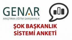 GENAR Başkanlık Sistemi Anketinde Şok Sonuçlar
