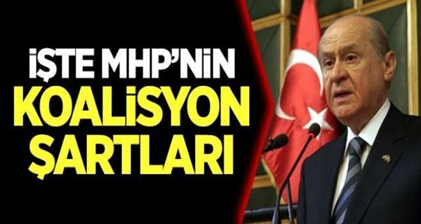MHP'nin Koalisyon İçin 4 Şartı! Bahçeli Canlı Yayında Açıkladı!